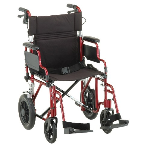"Nova 19"" Transport Chair with Hand Brakes - image 1 of 1"