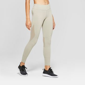 Women's Premium Mid-Rise Moto Leggings - JoyLab™ Khaki M