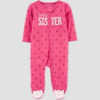 Baby Girls' Little Sister Dot Sleep N' Play - Just One You® made by carter's Pink 3M
