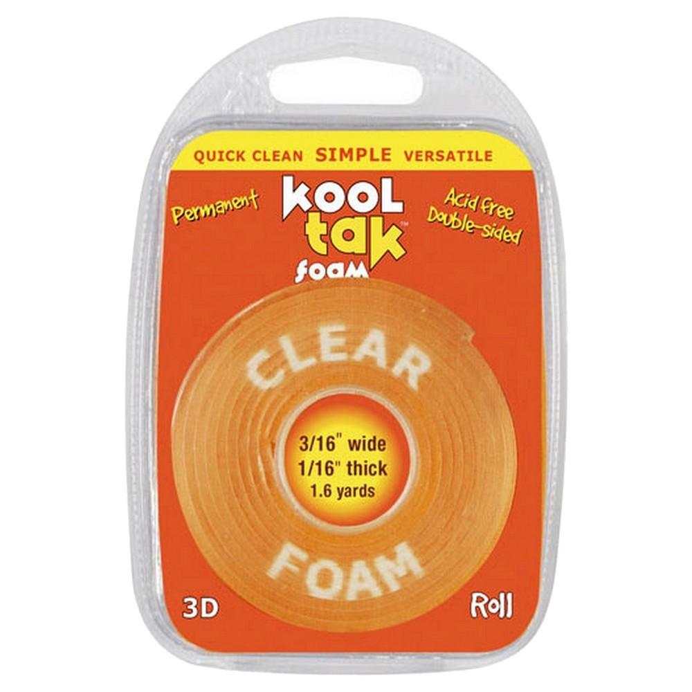 Image of Kool Tak 3D Foam Roll 1.6yds - Clear, Orange