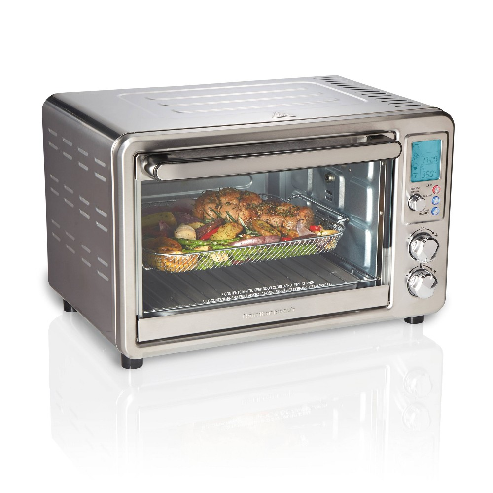 Image of Hamilton Beach Digital Sure-Crisp Air Fry Toaster Oven, Silver