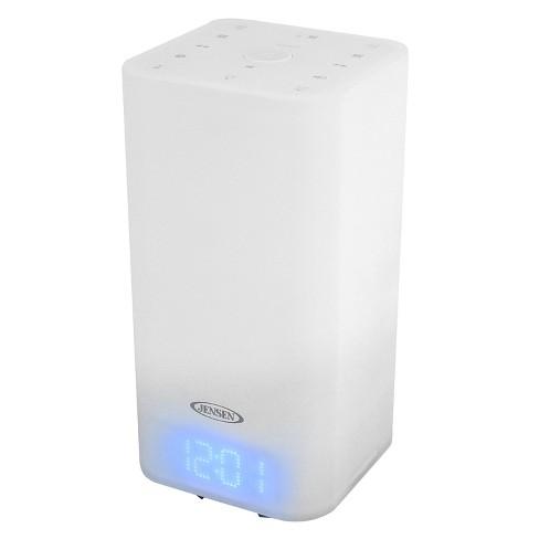 JENSEN Mood Lamp Digital Dual Alarm Clock Radio - White (JCR-370) - image 1 of 4