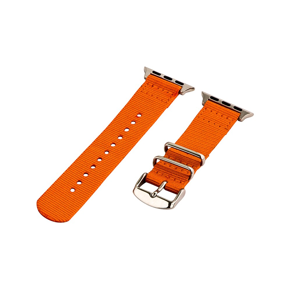 Clockwork Synergy Classic Nato 2 Apple Watch Band 42mm with Steel Adapter - Orange, Adult Unisex Customize the look of your timepiece with the Classic Nato 2-Piece Apple Watch Band from Clockwork Synergy. Crafted from high-quality nylon, this orange watchband ensures long-lasting durability without sacrificing comfortable wear. With 11 adjustability holes, you'll get the perfect custom fit so your watch stays in place all day. Whether you add a pop of color to your look from the orange watchband, or you switch it out to complement a specific outfit, you'll love sporting a unique look that complements your style. Gender: Unisex. Age Group: Adult.