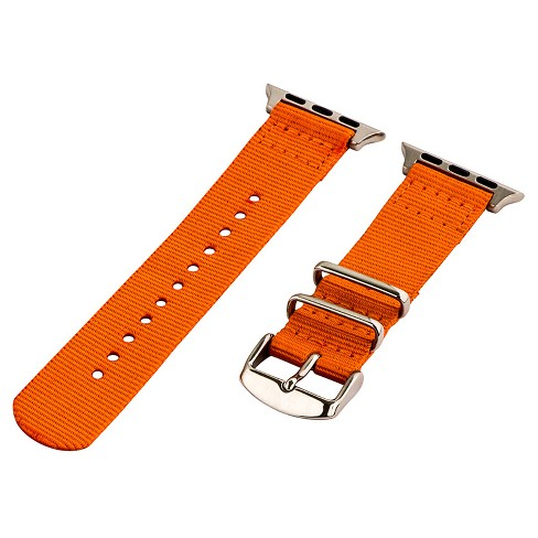 Clockwork Synergy Classic Nato 2 Apple Watch Band 38mm with Steel Adapter - Orange - image 1 of 1