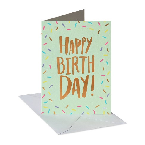 Conventional Birthday Card Lettering with Confetti - image 1 of 4