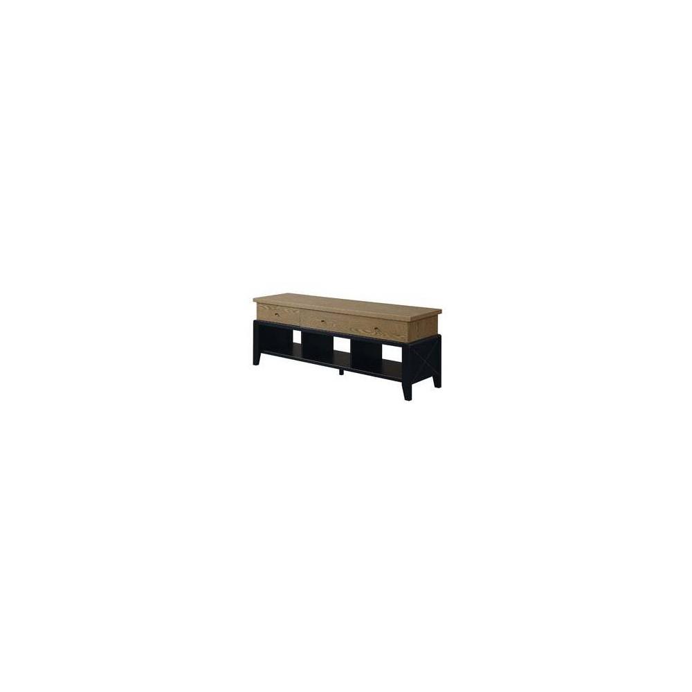 60  Newport Yorktown TV Stand Driftwood/Black - Johar Furniture 60  Newport Yorktown TV Stand Driftwood/Black - Johar Furniture