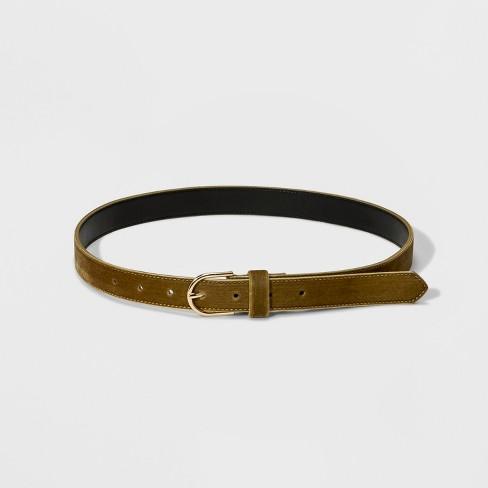 Women's Velvet Belt - A New Day™ Ochre - image 1 of 2