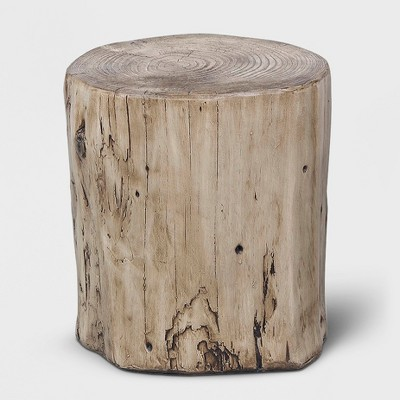 Tree stump furniture Table Leg Oregon Heartwood Faux Wood Stump Accent Table Brown Project 62 Target
