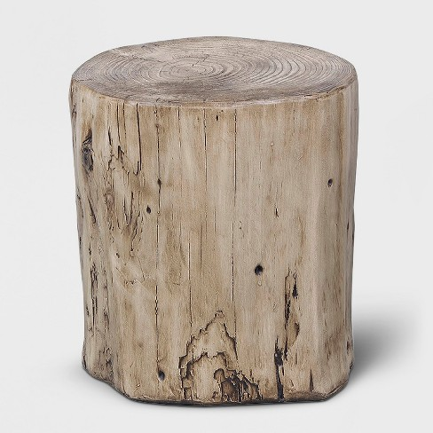 Faux Wood Stump Indoor/Outdoor Table Brown - Project 62™ - image 1 of 4