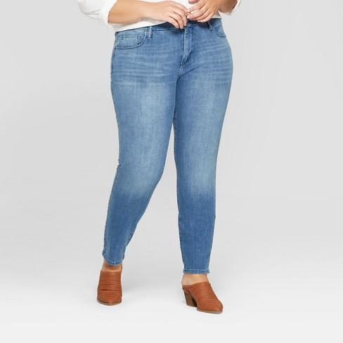 cbf6986506bc6 Women s Plus Size Bi-Stretch Skinny Jeans - Universal Thread™ Medium Wash