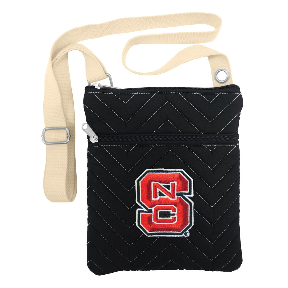 NCAA NC State Wolfpack Little Earth Chevron Stitch Cross Body, Adult Unisex