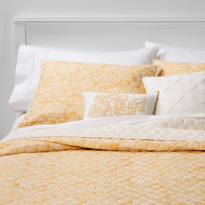Full/Queen Belgrade Floral 5pc Quilt Set Yellow - Threshold™