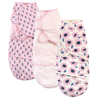 Touched by Nature Unisex Baby Organic Cotton Swaddle Wrap - Blossoms 0-3M