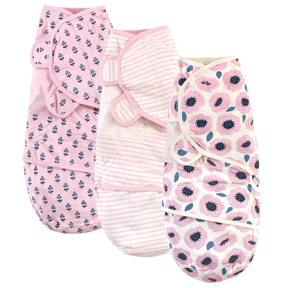 Touched By Nature Unisex Baby Organic Cotton Swaddle Wrap Blossoms 0 3 Months