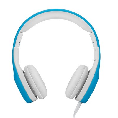 LilGadgets Connect+ Premium Volume Limited Wired Headphones with SharePort for Kids - Blue