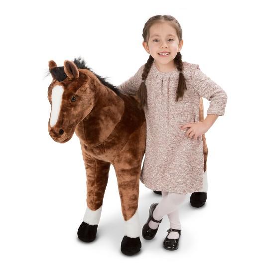 Melissa & Doug Giant Horse - Lifelike Stuffed Animal (nearly 3 feet tall) image number null