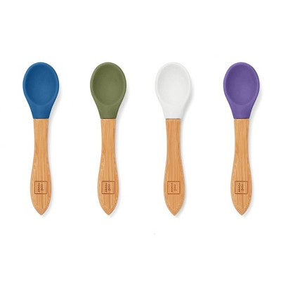 Red Rover 4pk Bamboo and Silicone Kids' Spoons