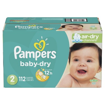 Pampers Baby Dry Diapers Super Pack Size 2 - 112ct