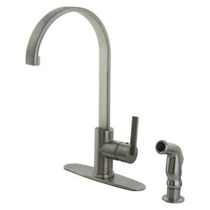 Modern Single Lever Kitchen Faucet Satin Nickel - Kingston Brass, Satin Nickle