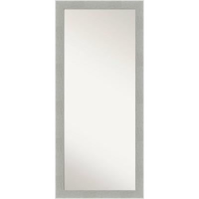 """29"""" x 65"""" Glam Framed Full Length Floor/Leaner Mirror Linen Gray - Amanti Art"""