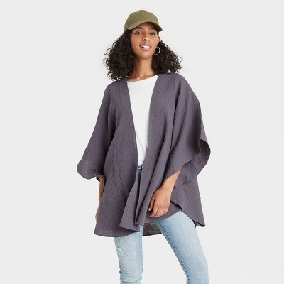 Women's Gauze Ruana Wrap Jacket - Universal Thread™