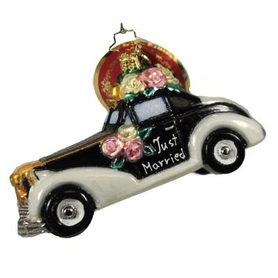 "Christopher Radko 3.0"" Love & Carriage Ornament Wedding Bridal Ride  -  Tree Ornaments"