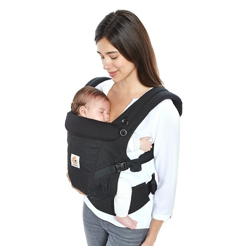 6c3a4a46b54 Ergobaby Adapt Ergonomic Multi-Position Baby Carrier - Black   Target