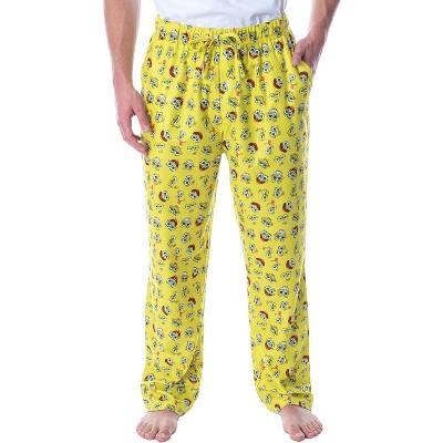 Nickelodeon Men's SpongeBob SquarePants Expressions Loungewear Pajama Pants