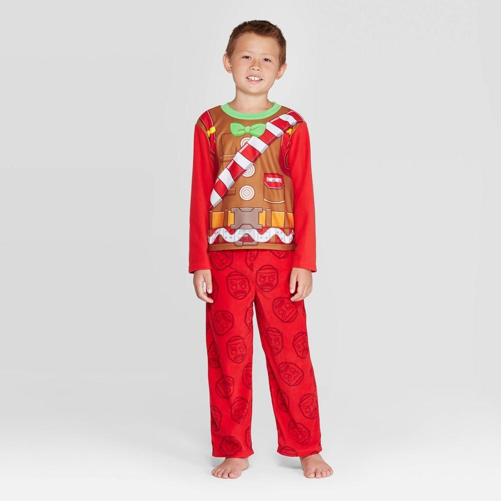 Image of Boys' Fortnite 2pc Fleece Pajama Set - Red 10, Boy's