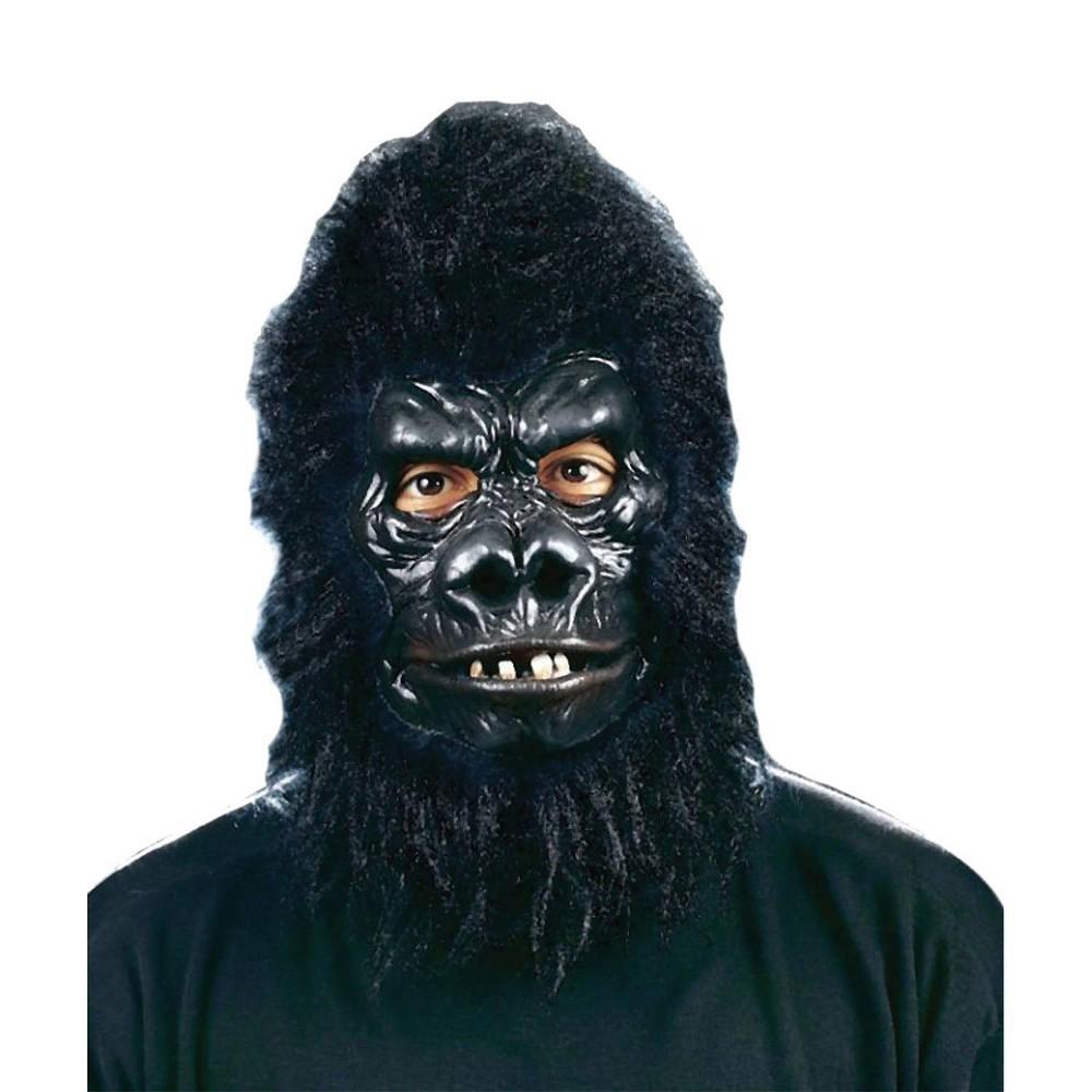 Image of Men's Gorilla Deluxe Mask, Black