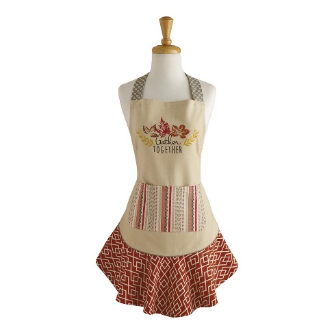 Design Imports Gather Together Ruffle Apron - image 1 of 1