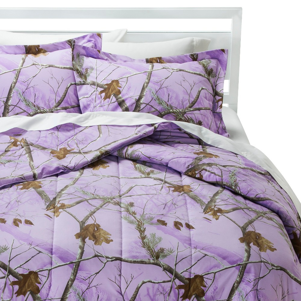 Realtree Nature Inspired Comforter Set - Lavender (Purple) (Twin XL)