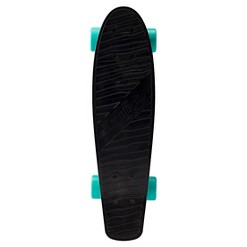 """Kryptonics 22.5"""" Torpedo Skateboard - Black, Black Blue Gray"""