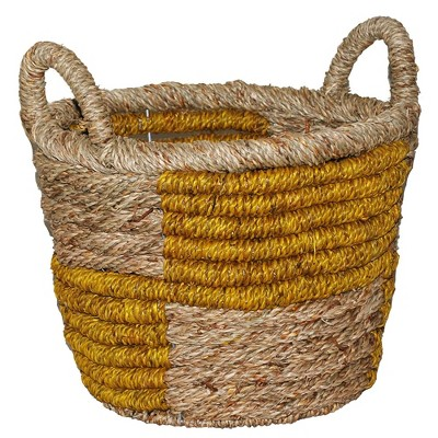 12.2 x12  Decorative Basket Natural Yellow - Opalhouse™