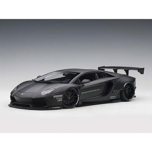 Lamborghini Aventador Lb Works Matt Black 1 18 Model Car By Autoart