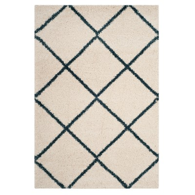Gray Diamond Shag/Flokati Loomed Area Rug 5'1 X7'6  - Safavieh