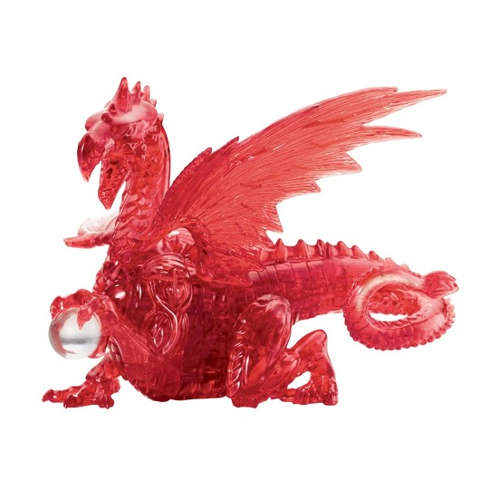 Bepuzzled Deluxe Crystal: Red Dragon 3D Puzzle 56pc image number null