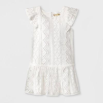 Toddler Girls' Geometric Lace Dress - Genuine Kids® from OshKosh - White 18M
