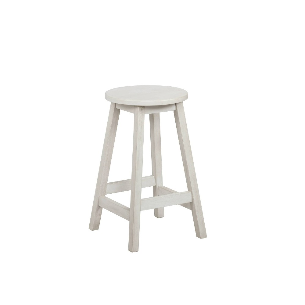 """Image of """"21.5"""""""" Carlton Counter Stool Distressed White - Powell Company"""""""