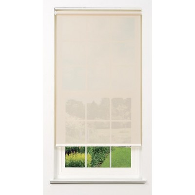 Linen Avenue Cordless 5% Solar Screen Standard Roller Shade, White, Fawn, and Sand