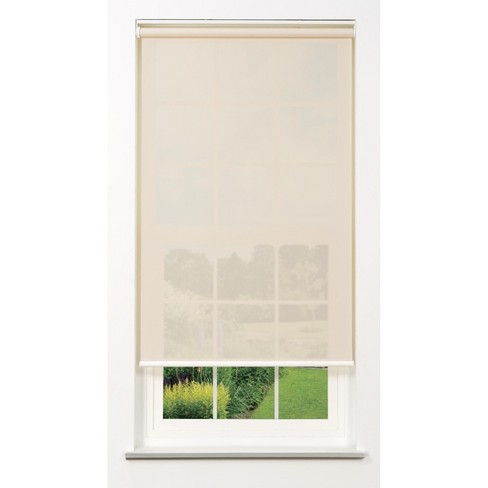 Linen Avenue Cordless 5% Solar Screen Standard Roller Shade, White, Fawn, and Sand - image 1 of 4