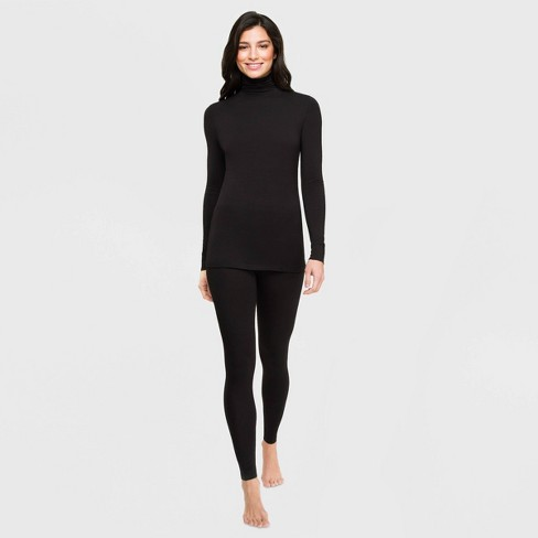 Warm Essentials by Cuddl Duds Women's Smooth Stretch Thermal Turtleneck Top - image 1 of 2