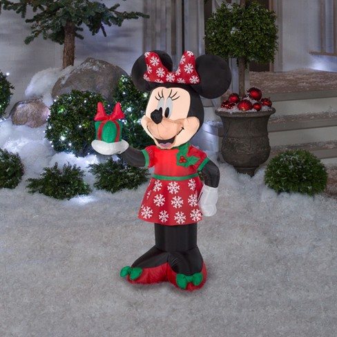 disney holiday inflatable decoration minnie mouse with present target