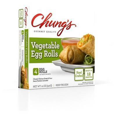 Chung's Frozen Vegetable Egg Rolls - 12oz/4ct