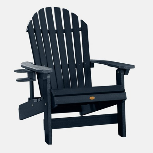 King Hamilton Adirondack Patio Chair with Cup Holder Federal Blue highwood