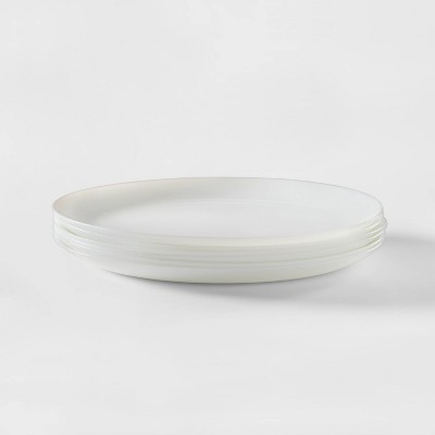 Glass Dinner Plates 10.7  White Set of 6 - Made By Design™