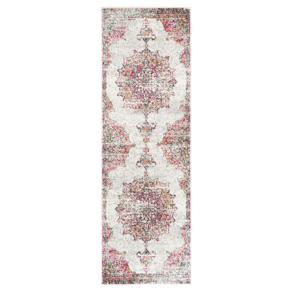 "Image of ""2'8""""x8' Solid Loomed Runner Pink - nuLOOM"""