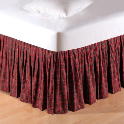 C&F Home Green & Burgundy Plaid Bed Skirt