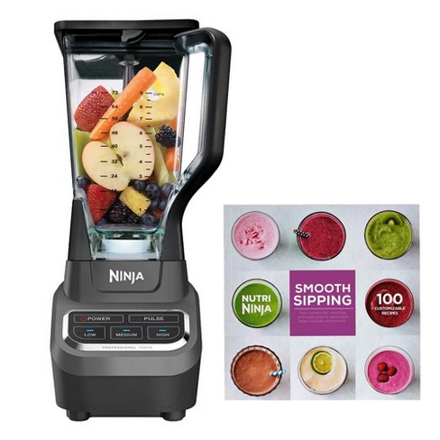 Ninja 100 Recipe Book & Professional Work Top Blender (Certified Refurbished) - image 1 of 4