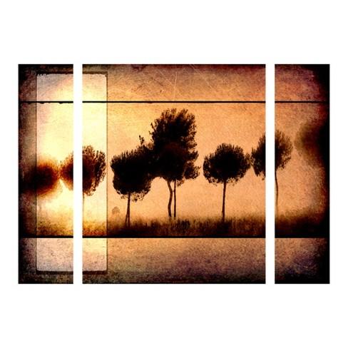 "27""x33.5"" Light Box Journal 'For the Love of Trees I' Multi Panel Decorative Wall Art set - Trademark Fine Art - image 1 of 1"